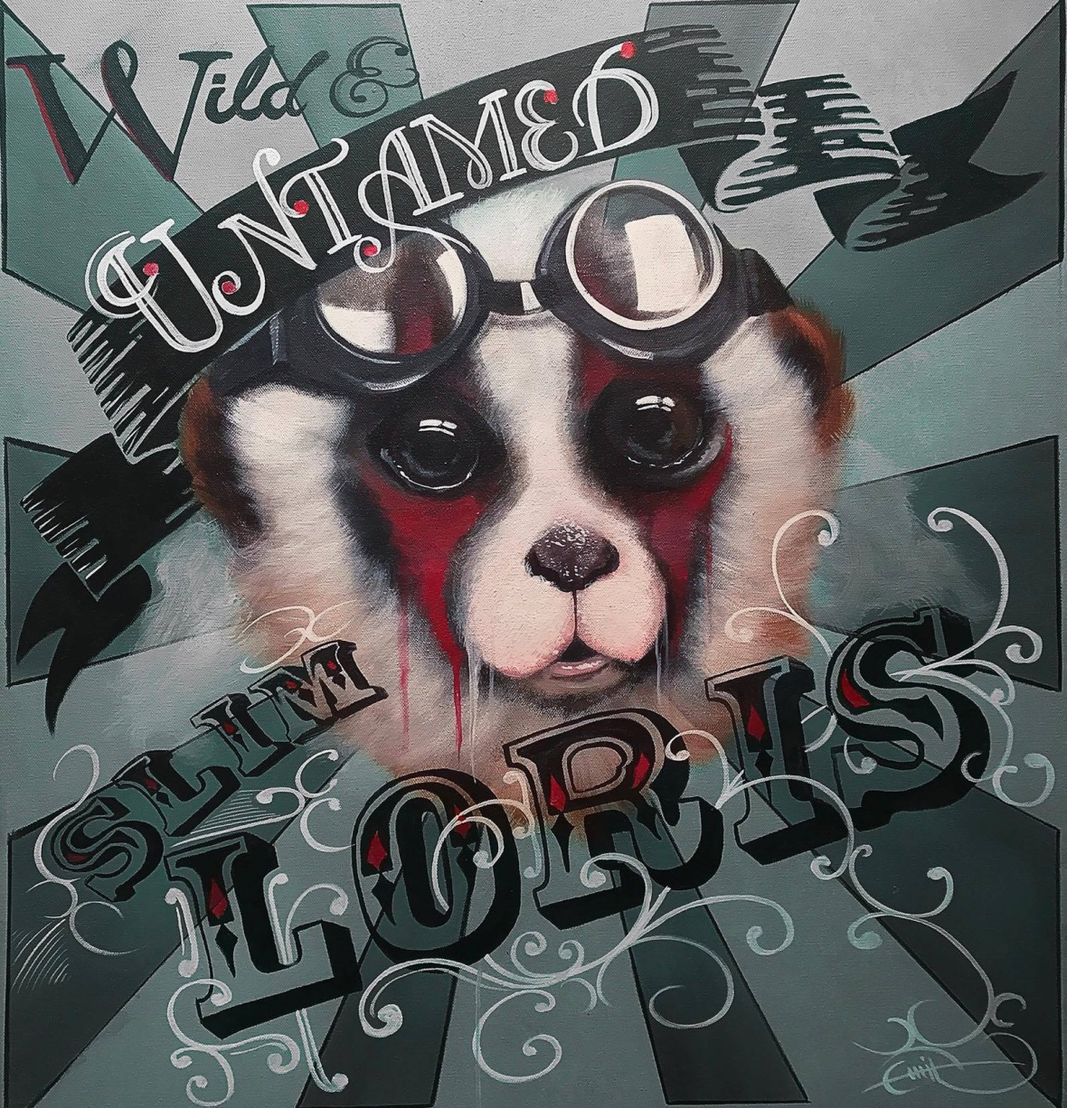 Cover art for Wild & Untamed, the forthcoming EP by Swedish band Slim Loris