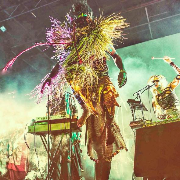 Austin Texas collective Golden Dawn Arkestra combine afropop and jazz to create moments of transcendence