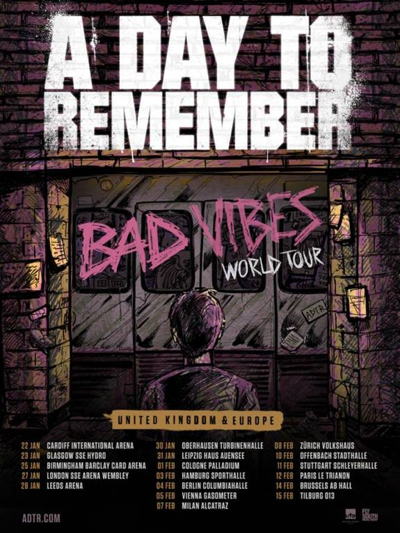 Worst gigs: A Day To Remember's Bad Vibes World Tour at Wembley in 2017 was named one of the worst gigs by a pop punkers reddit user