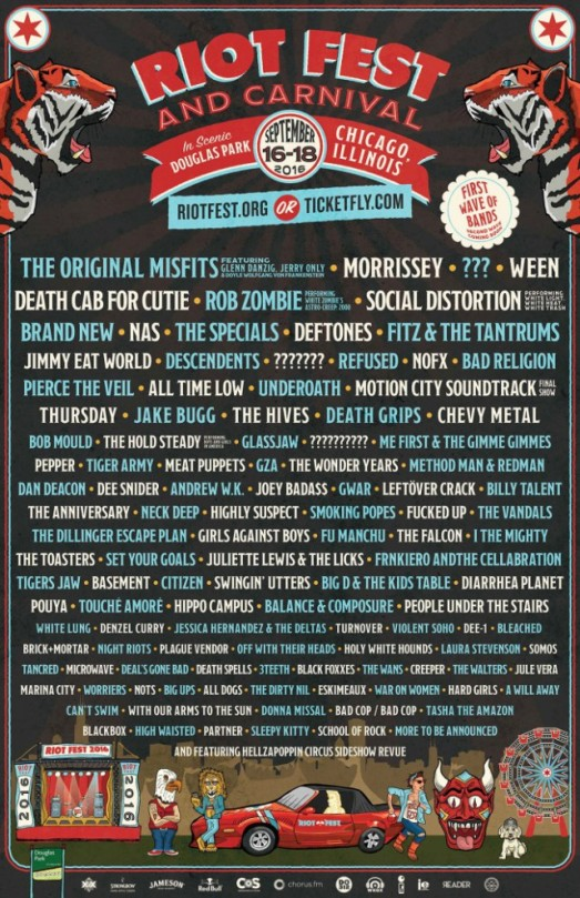 Worst gigs: Jimmy Eat World's Riot Fest 2016 set was named worst live show by one pop punkers reddit user